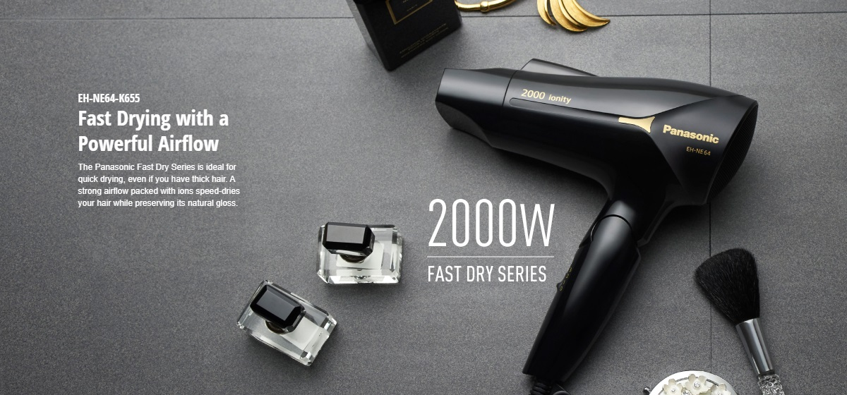 Panasonic 1800W Basic Heat Protection Hair Dryer EH-ND30
